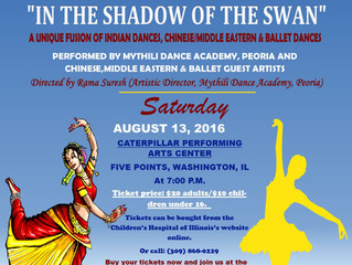 """""""In The Shadow Of The Swan"""" - A Mythili Dance Academy Broadway Show, Peoria , IL"""