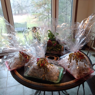 Homemade Variety Christmas or Holiday Cookie Basket Gifts
