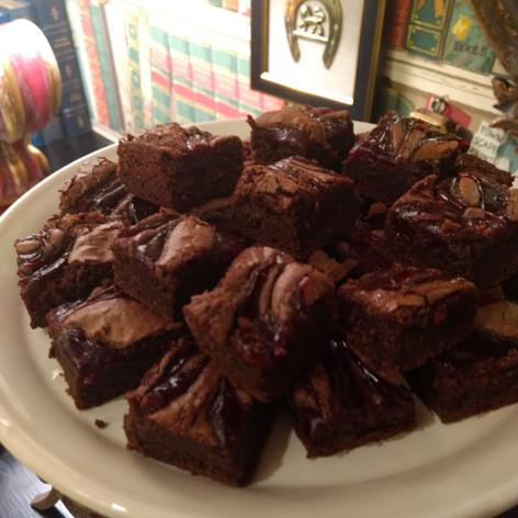 Chocolate Raspberry brownies