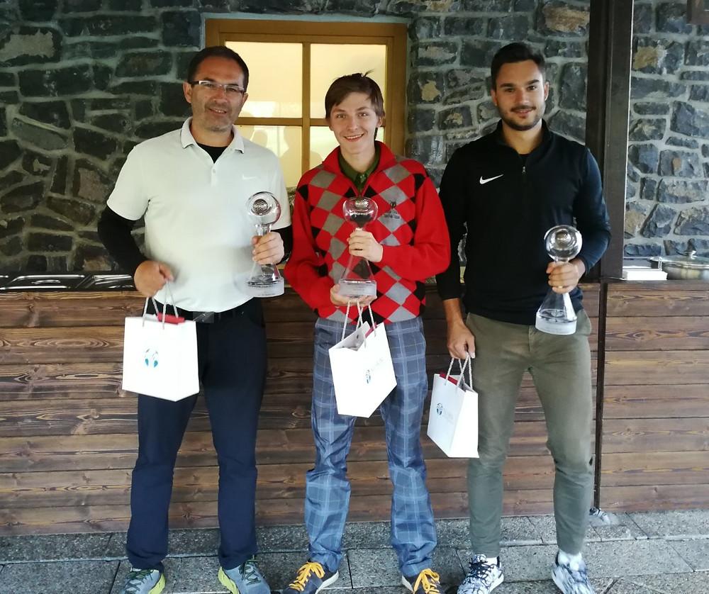 Víťazi kategórie STBF MIX netto na Majstrovstvách Prvého žilinského golfového klubu 2018 Gray Bear Tále