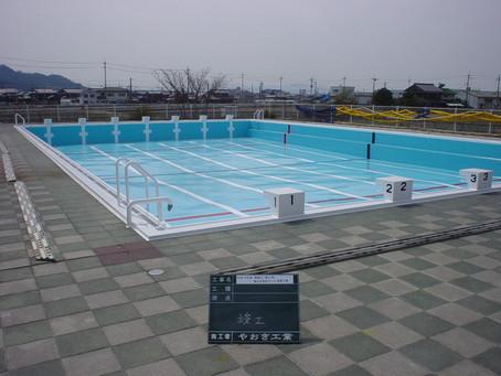 葉山中学校プール
