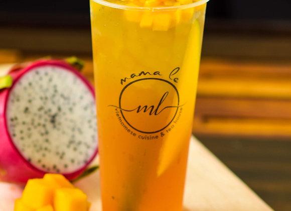 Dragon Mango Breeze Tea {Trà Thanh Long, Xoài}