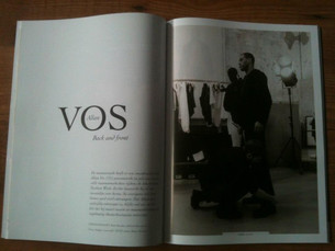 Allan Vos backstage in FERRY Magazine