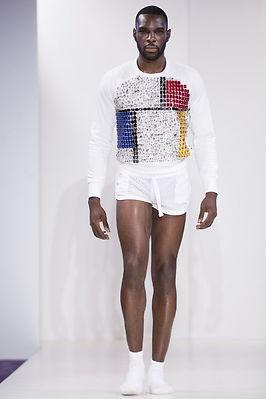 Allan Vos menswear glitter sequins underwear show collection