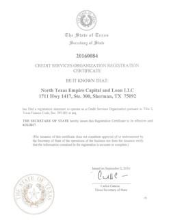 Texas CAB License