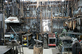 Donn Wagner, Blacksmith in Mesa, Arizona makes custom knives, fire irons, pre-1840's pieces