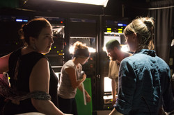 discussing the next scene