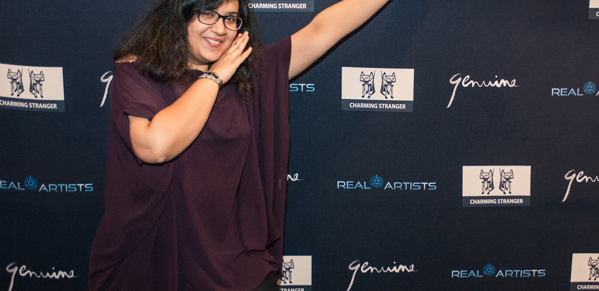 Ayesha at the cast and crew screening of Real Artists