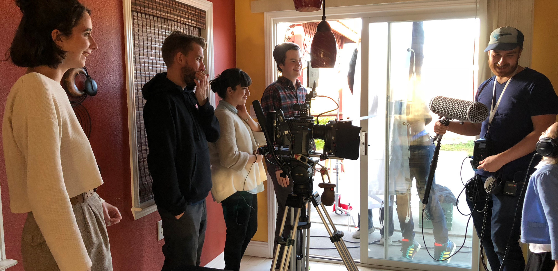 Clare directing on set