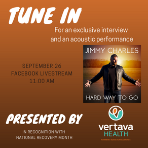 AWARD-WINNING, COUNTRY MUSIC RECORDING ARTIST JIMMY CHARLES ALIGNS WITH VERTAVA HEALTH