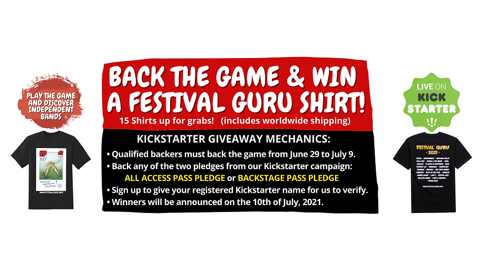 SIGN UP TO WIN A COPY OF FESTIVAL GURU (