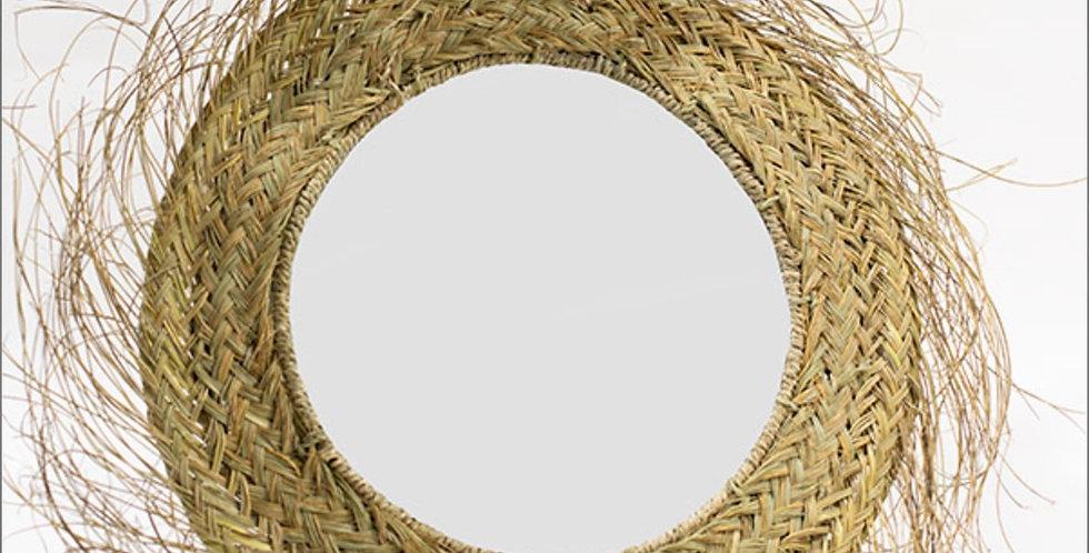 Handmade Straw Mirror