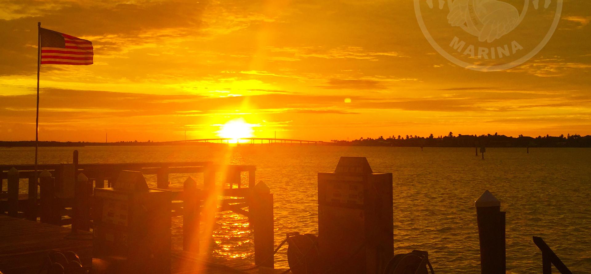 Sunsetting over Marco Bridge - Taken from Pelican Pier