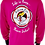 Thumbnail: Men's Fuchsia Performance Moisture Wicking Long Sleeve T-Shirt
