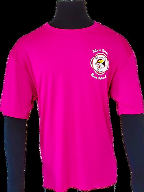 Men's Fuchsia Performance Moisture Wicking T-Shirt