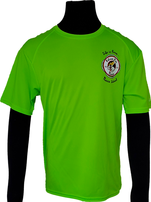 Men's Lime Green Performance Moisture Wicking T-Shirt