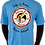 Thumbnail: Men's Columbia Blue Performance Moisture Wicking T-Shirt