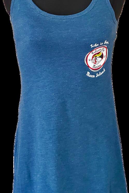Women's Cotton Blue Ash Sun Dress