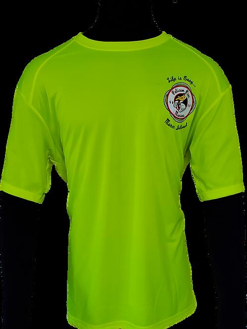 Men's Highlighter Yellow Performance Moisture Wicking T-Shirt