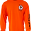 Thumbnail: Men's Construction Orange Performance Moisture Wicking Long-Sleeve T-Shirt