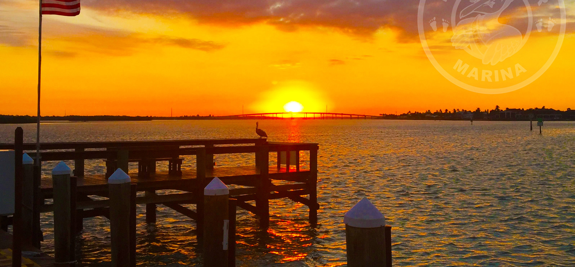 Sunsetting on Pelican over Marco Bridge - Taken from Pelican Pier
