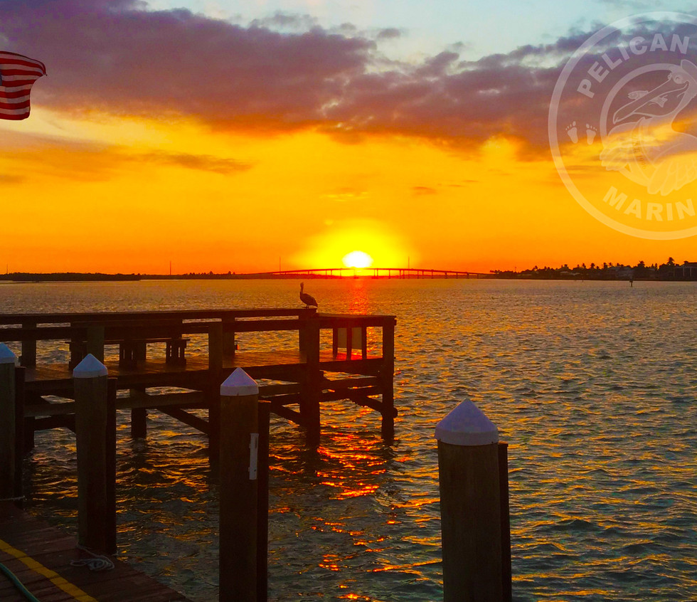 Sunsetting on Pelican over Marco Bridge - Taken from Pelican Pier