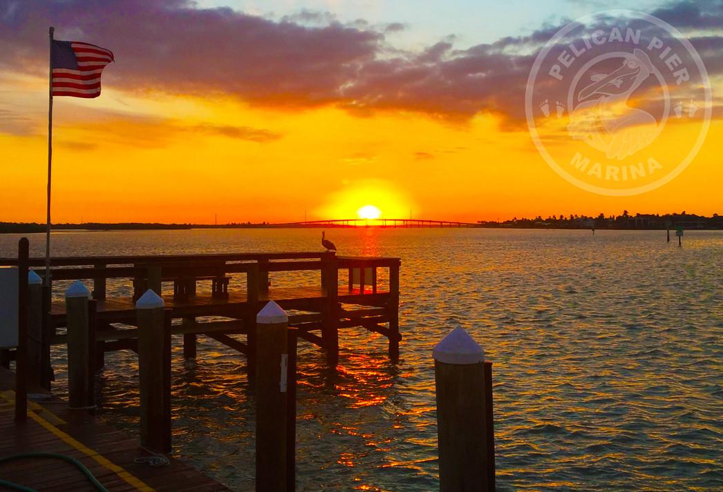 Sunset at Pelican Pier Marco Island, FL.