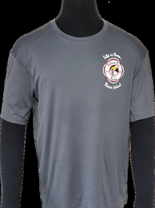 Men's Gray Performance Moisture Wicking T-Shirt