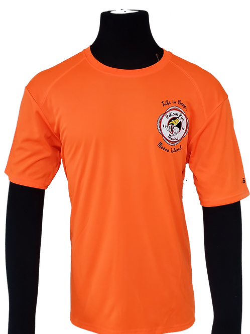 Men's Construction Barrier Orange Performance Moisture Wicking T-Shirt
