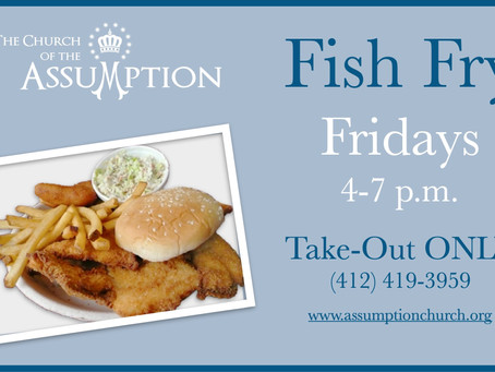 Fish Fry Is Back For Take Out!