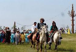 Yakut traditions filming reindeer herders