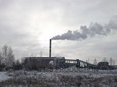 Industrial landscapes in Krasnoyarsk Siberia