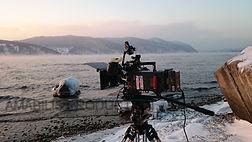 Filming lake baikal
