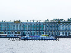 Winter palace across the water