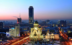 Yekaterinburg at night