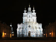 Smolniy cathedral at night