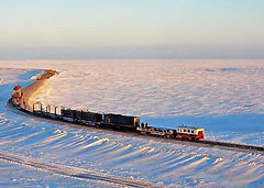 The northenmost railroad in the world - polar railroad