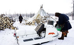 Filming nomad nenets tribes in Yamal