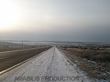 Wide empty roads in Siberia