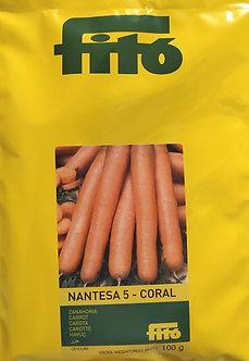 Моркови Нантски 5 Корал от 100гр.