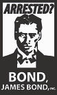 Arrested Bond Man bumper sticker 3 x 5