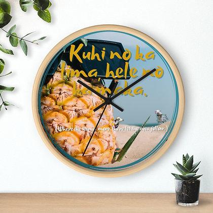 Hawaiian Proverb Wall clock