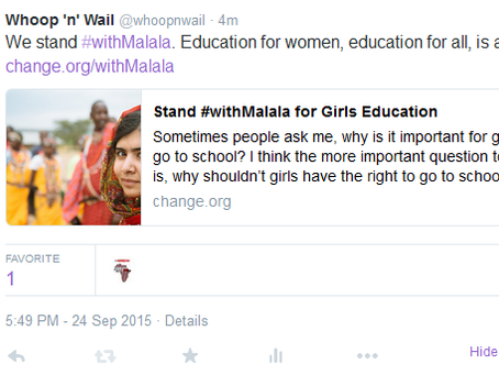 We stand #withMalala!