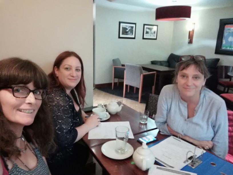 Ali, Debs & Fiona - script meeting in York