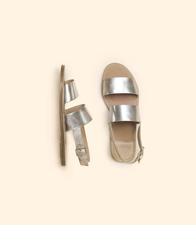 Silver Sandals Jennifer Zemp