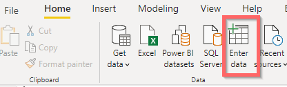 Create table in powerBI