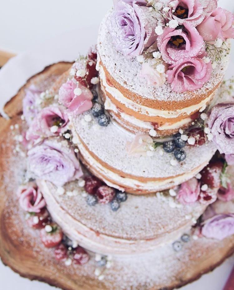 Naked Artisan Wedding Cake Rustic