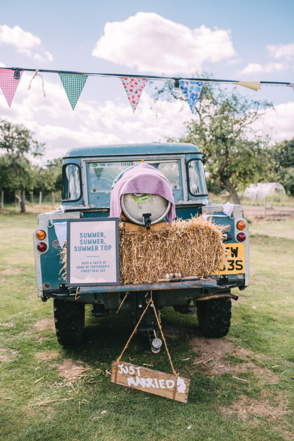 Festival Bunting with Hay