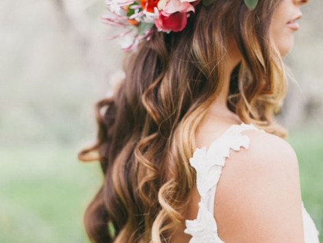 Four hairstyles for a Boho Bride