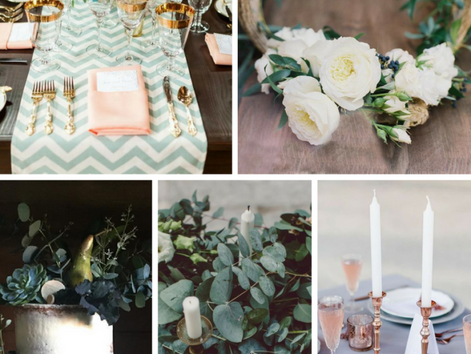 Moodboard for Wedding Trends 2017